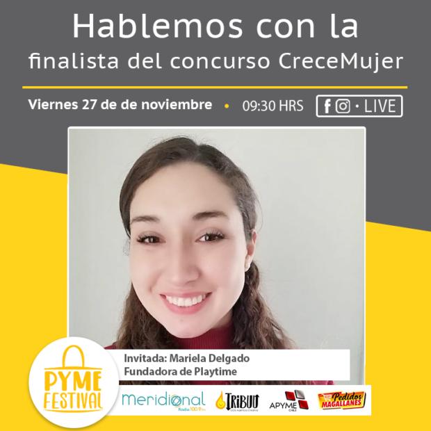 Mariela Delgado, finalista magallánica en el concurso CreceMujer