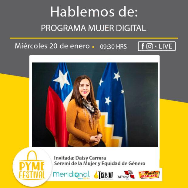 Programa Mujer Digital con Daisy Carrera