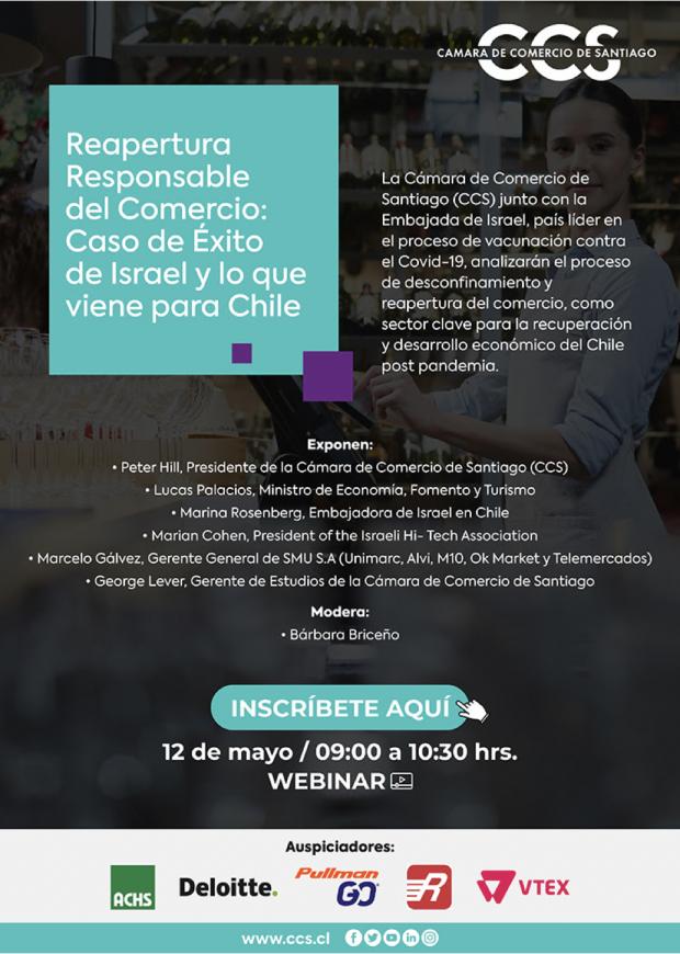 """Webinar """"Reapertura Responsable del Comercio: Caso Éxito de Israel y lo que viene para Chile"""""""