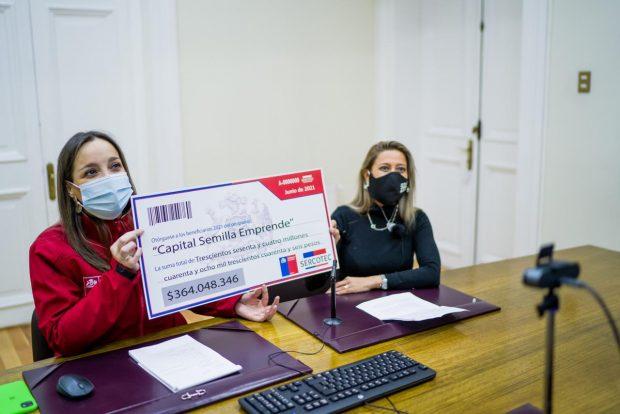 Directora  de Sercotec, se reunió con los adjudicados del programa 'Capital Semilla Emprende', para anunciar los ganadores de este beneficio