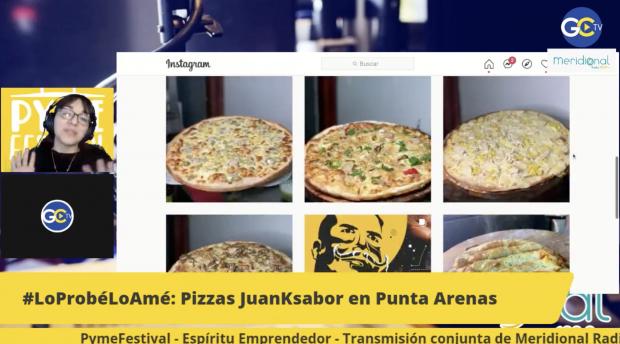 Pizzas JuanKsabor de PuntaArenas en #LoProbélLoAmé de María Pastora Sandoval en PymeFestival
