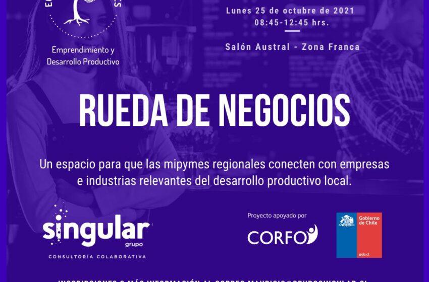 Grupo singular con apoyo de Corfo y las principales industrias de la región realizará rueda de negocios en la Semana de la Pyme